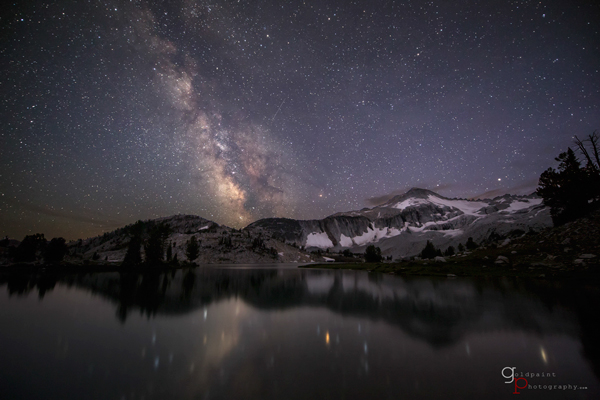 The Milky Way over Glacier Lake taken in the Eagle Cap Wilderness. Wallowa–Whitman National Forest, Oregon
