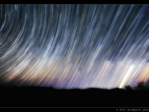 Trails of Light in the Night Sky