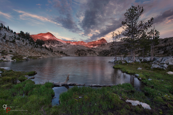 Sunrise at Glacier Lake taken in the Eagle Cap Wilderness. Wallowa–Whitman National Forest, Oregon