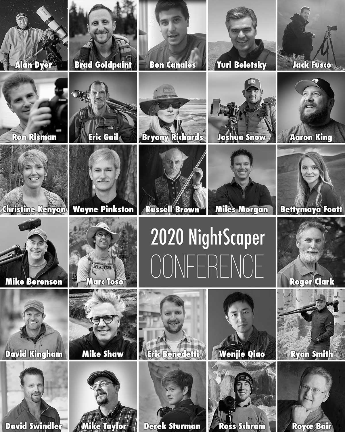 2020 NightScaper Conference Speaker List